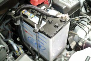 車,バッテリー,繋ぎ方